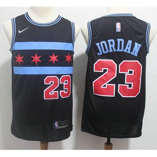 Nike NBA球衣 公牛23星款 黑色