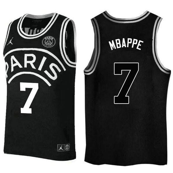 Nike NBA球衣 大巴黎聯名7號 黑色