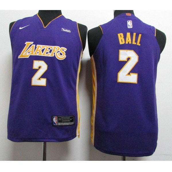 Nike NBA球衣 湖人 紫色