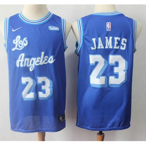 Nike NBA球衣 湖人23號藍色復古球迷版  S-XXL