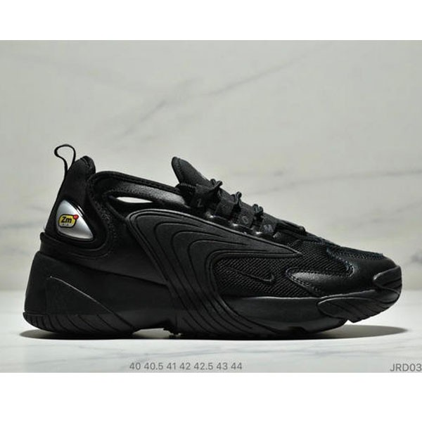 Nike Zoom +2K Sneaker White/Black Zoom 2000復古百搭老爹慢跑鞋 男款 全黑