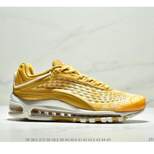 Nike Air Max99 SUPREME 大氣墊聯名緩震復古跑鞋 情侶款 黃色