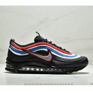 fd431957c724f785 300x300 - Nike Air Max 97 大勾子彈復古全掌氣墊休閒運動鞋 情侶款 黑白藍紅